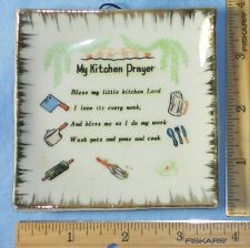 "Mini Square ""My KITCHEN Prayer"" Wall Plate or Pin Dish"
