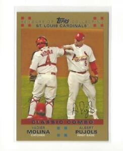 2007 Topps Gold #329 Yadier Molina/Albert Pujols (Classic Combo) Cardinals /2007
