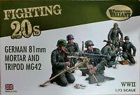 German 13 figurini 2 mortai 81mm e 2 MG42 trepiedi Valiant Miniatures Kits 1:72