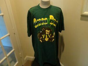 Vtg 80's Cliff Engle Game Day Green Bay Packers Teddy Bear PJ Nightshirt Fit 2XL