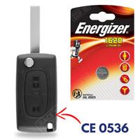 Coque de Clé Télécommande Plip pour CITROEN C1 C2 C3 C4 Picasso Berlingo + Pile