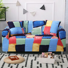 Watercolour Geometric Slipcover Sofa  Stretch Couch Cover Furniture Protector