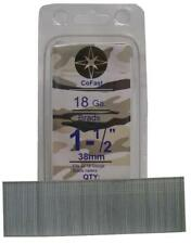 CoFast 18 Ga 1-1/2 inch Straight Finish Brad Air Nails fit Most 18 Ga Nailers 1M