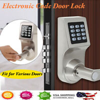 4-in-1 Keyless Smart Electronic RF Card  Keypad Entry Door Lock Safety Knob