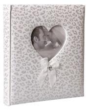 Happy End Fotoalbum in Weiß 29x32 cm 60 Seiten Satineinband Hochzeit Album