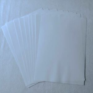 10 x A4 Double Sided Self Adhesive Sheets Clear Transparent Sticky Film Craft
