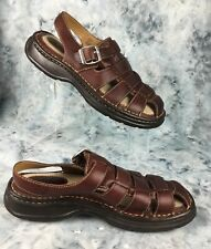 Cabela's Women's Brown Leather Sandals w/ Ankle Strap and Buckle Size 7 M New