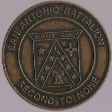 San Antonio Battalion Second To None Team of Winners Challenge Coin 1.5 Inch DIA