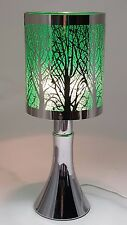 Fragrance ** Stainless Steel Table Touch Lamp Tree (Green) Silver color