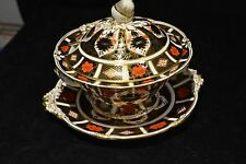Royal Crown Derby 1128 Old Imari Tureen Bowl and Lid. Large Base Plate New Price