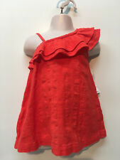 Old Navy Baby Girl Cotton Dress & Hair Clip Size 3-6 Months New One Shoulder
