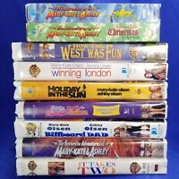 Lot of (9) Mary Kate and Ashley Olsen VHS Tapes Movies and Adventures
