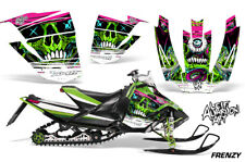 Arctic Cat Sno Pro Race Sled Wrap Snowmobile Decal Graphic Kit 08-11 FRENZY GRN