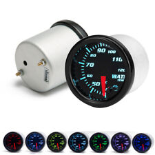 "7 Colors Backlight Universal  Water Coolant Temperature Temp Gauge 12V 2""/52mm"