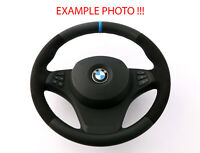 BMW X3 X5 Series E53 E83 NEW Black Leather Sport Steering Wheel M-tricoloured
