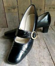 Vtg 60s Black Naturalizer Mary Janes 8.5 pin up rockabilly Little Flirts heels