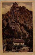 Bodetal Sachsen-Anhalt Harz 1920 Königsruhe Roßtrappe Roßtrappenfelsen gelaufen