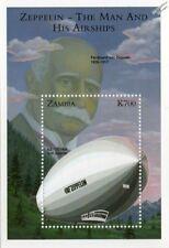 Ferdinand von Zeppelin & 1928 LZ.127 Graf Zeppelin Airship Aircraft Stamp Sheet