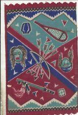 Vintage 9 x 5 1/2 Tobacco Felt Native American Motif