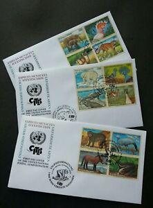 United Nation Endangered Species 1997 Monkey Horse Polar Bear Bird Wildlife FDC