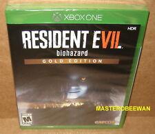 Resident Evil 7 Biohazard: Gold Edition (Microsoft Xbox One, 2017) New Sealed