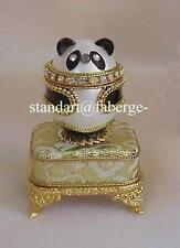 """Panda Music Box Egg plays Beethoven's """"Fur Elise"""" & Red Faberge Pendant Necklace"""