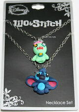 Disney 3-D Lilo & Stitch Scrump BFF Best Friends Necklace Set Besties Pendants