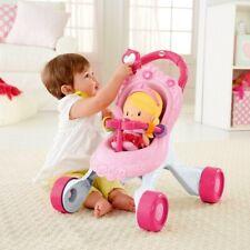Lauflernhilfe Baby Walker Lauflernwagen Kinderwagen mit Puppe Fisher Price NEU