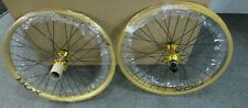 Box Components BOX TWO 20 inch Gold BMX racing Wheelset