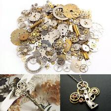 50g Watch Parts Steampunk Jewellery Altered Art Crafts Cyberpunk Cogs Gears UK