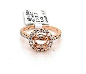 14k Rose Gold 0.75 CT Diamond Engagement Ring Mounting, 3.1gm, S102742
