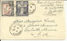 British Guiana SG#310,#309 MAHAICA 9/SP/39 to USA, backstamped