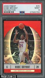 2006-07 Topps Finest Refractor #25 Kobe Bryant Los Angeles Lakers HOF PSA 9 MINT