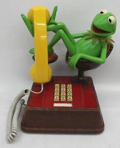 HENSON ASSOCIATES Kermit The Frog Vintage 1983 Muppets Push Button Telephone