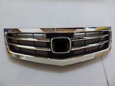 DHL - New Front Upper Bumper Hood Grille For Honda Acura TSX 2012-2014 - Chrome