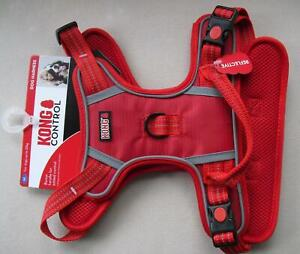 Red KONG CONTROL Dog Chest Harness Reflective Stitching SIZE Medium M Up To 23kg