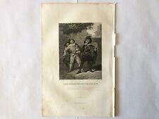 GRAVURE LES FOURBERIES DE SCAPIN 1854 MOLIERE TRES BON ETAT