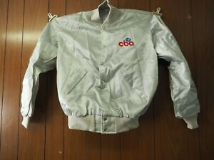 Scarce CBA (Continental Basketball Association) Silver Satin Jacket Medium and L