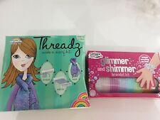 Smiggle Glimmer & Shimmer Bracelet Set & Threadz Make A Scarf Set  Age 6+, New,