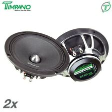 "2x Timpano Tpt-Neo8 8"" Neodymium Pro Audio Mid Range Car Speaker 4Ohms 800 Watts"