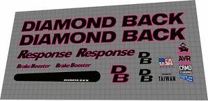Diamond Back Response 1992 DECAL SET