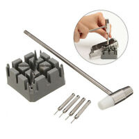 Watch Strap Bands Holder Hammer Punch Pins Link Remover Repair Tool Kits Set
