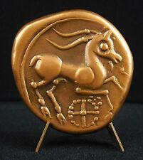 Médaille Appolon & chamois monnaie Allobroges des Alpes 133/500 gaulois medal