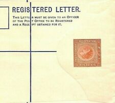 Bp2 Qeii Fiji Cover Unused 6d Square Die Postal Stationery Registered Letter