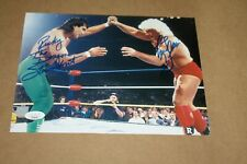 WWE WWF WCW RICKY THE DRAGON STEAMBOAT & RIC FLAIR DUAL SIGNED 8X10 PHOTO JSA!