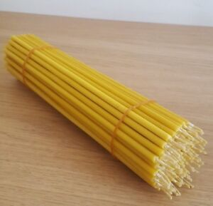 100 pcs -100% pure beeswax votive candles (9.5 Inch)