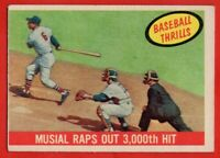 1959 Topps #470 Stan Musial EX-EX WRINKLE St. Louis Cardinals FREE SHIPPING
