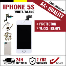AA+ LCD SCREEN SCHERM ÉCRAN ASSEMBLY WHITE BLANC +VERRE TREMPÉ FOR IPHONE 5S