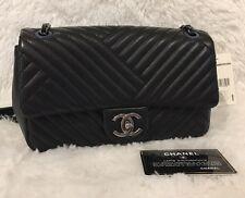 Chanel Lambskin Flap Bag In Black