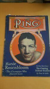 Vintage Ring Boxing Magazine: Oct. 1930. Maxie Rosenbloom.